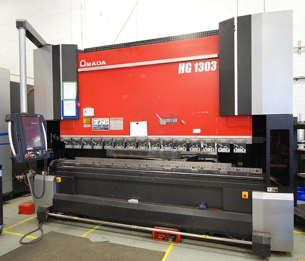 """146 TON X 122.4"""", AMADA 2015, HG1303, SERVO/HYDRAULIC CNC PRESS BRAKE"""