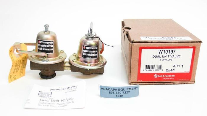 Bell & Gossett W10197 Dual Unit Valve F-3 Valve 2J41 Lead Free NEW (5849)