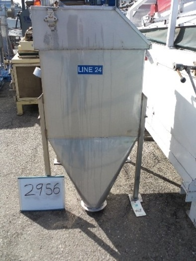 Stainless Steel Ingredient Feed Hopper Tank #2956
