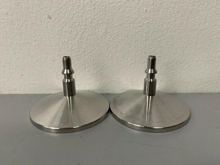 "Used Lot of 2 - Stainless Steel Sanitary 3/16"" Hose Fitting To 1"" Sanitary Fitting"