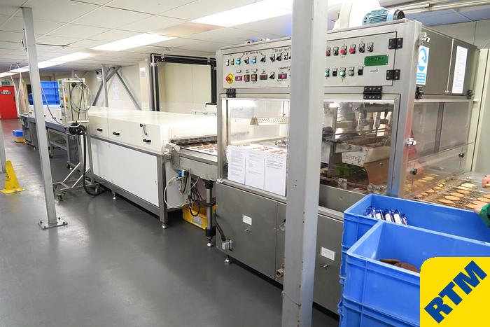 Used 850mm wide Chocolate Enrobing Line