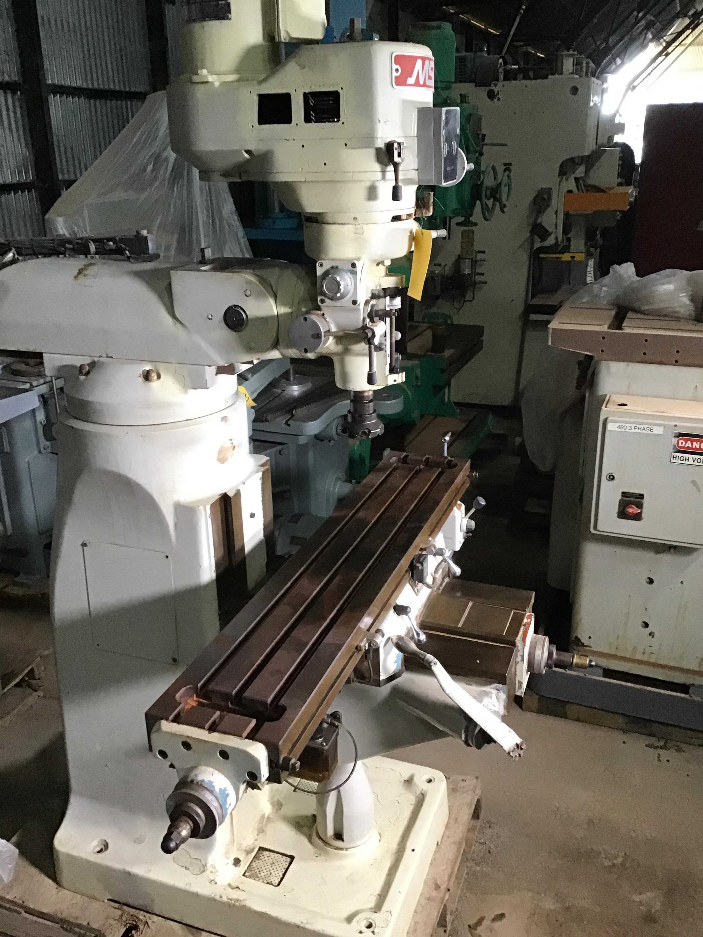 """MSC #2 Vertical Milling Machine; 2 HP; 9"""" x 42"""" Tbl."""