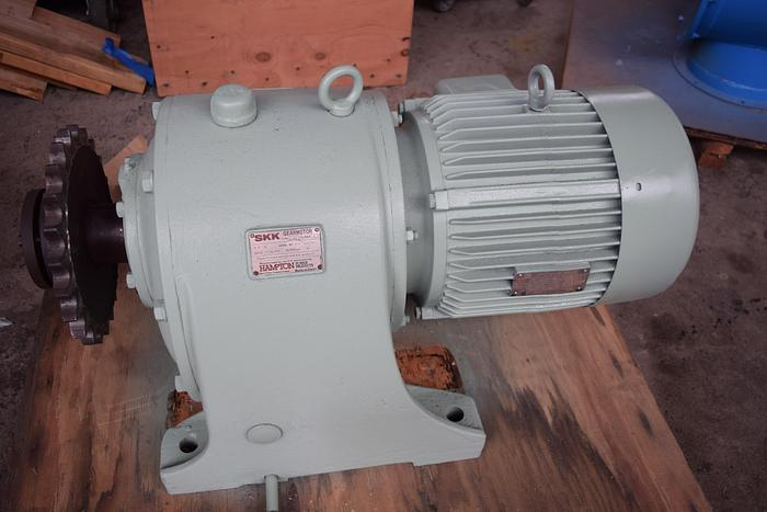 Used SKK gear motor 10HP 37 RPM