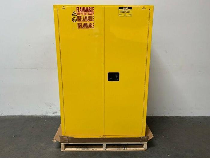 "Used 90 Gallon Flammable Liquid Storage Cabinet 65"" x 43"" x 34"""