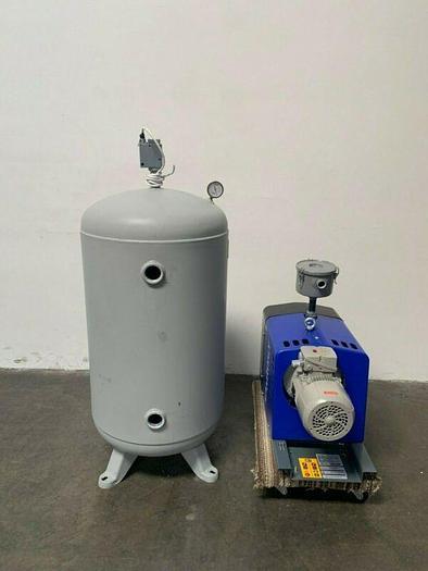 Used Quincy Air Compressor QCV 040-090 w/ 60 Gallon Steel Fab Air Tank