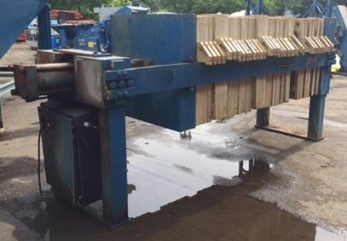 Used 25 CU. FT. JWI TYPE FILTER PRESS – 1000 MM – CGR – AUTOMATIC (#9554)