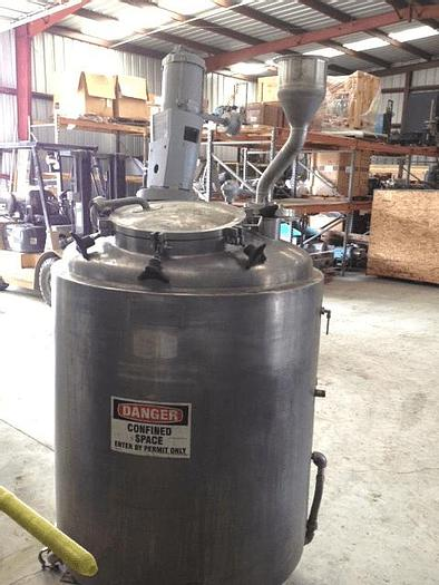 Used 150 GALLON LEE REACTOR – S/S – 30/FV/100 PSI