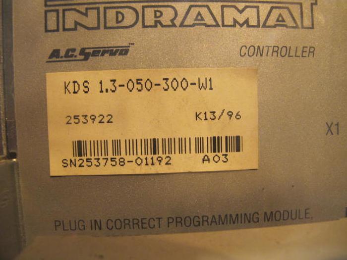 Servoregler Antriebsregler INDRAMAT KDS 1.3-050-300-W1
