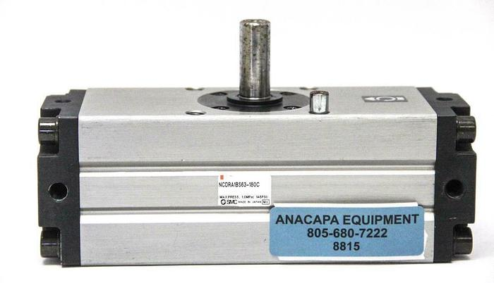 Used SMC NCDRA1BS63-180C NCRA1 Standard Rotary Actuator, 180º Rotation (8815)W