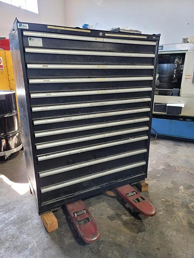 Used Cabinet of Misc Thick (Amada Style) Turret Tooling