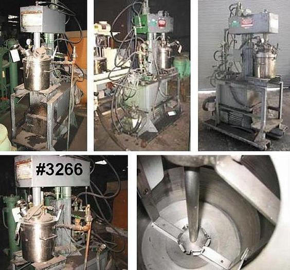 Used 4 GALLON MYERS DUAL SHAFT VACUUM MIXER – S/S – JACKETED