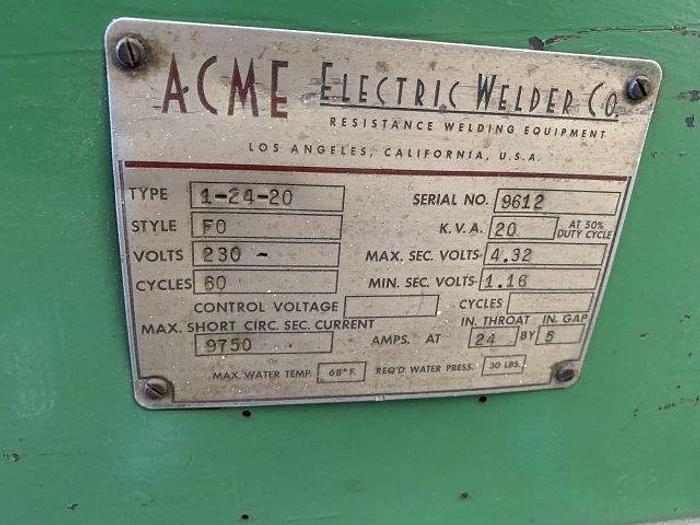 "20 KVA, ACME, No. 1-24-20, 24"" THROAT, INTERTRON CONTROL [5350]"