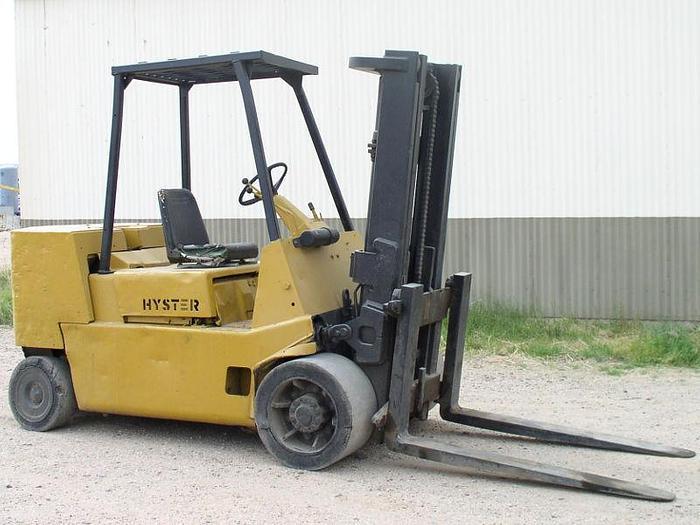 Used 12,000 lb. Hyster Model S120XLS Forklift; Hard Tires; Diesel
