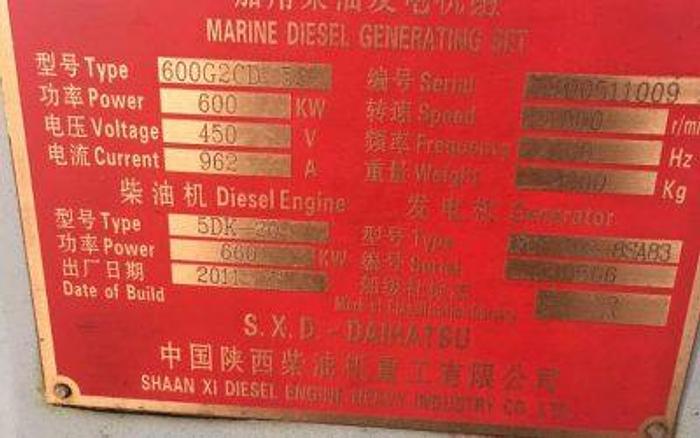 2011 Daihatsu 5DK-20 Brand New Generators