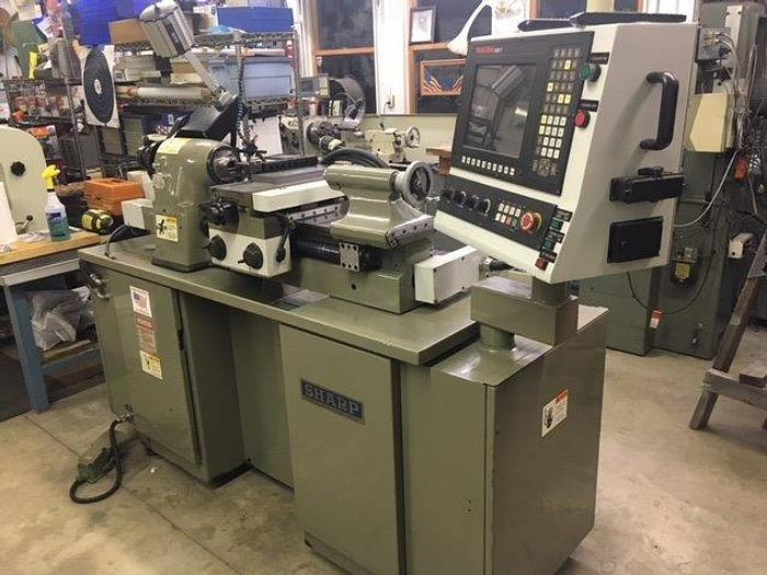 2001 Sharp 1118H-CNC 11x18 CNC Toolroom Lathe W/ Anilam 4200T 118H