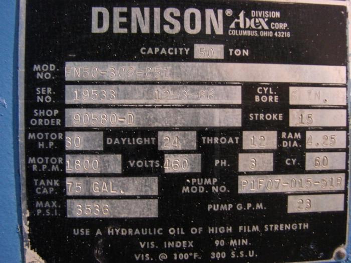 1966 STAMPING PRESS Machines and Equipment N50-30S-C51
