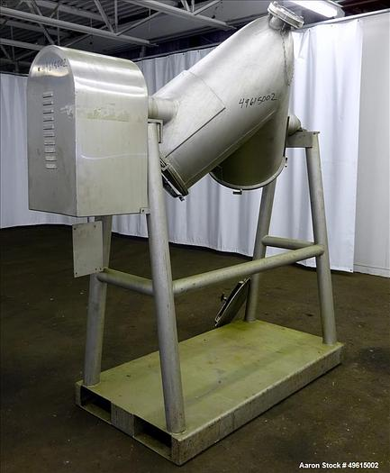 Used 5 cuft Patterson Kelley Twin shell blender SS