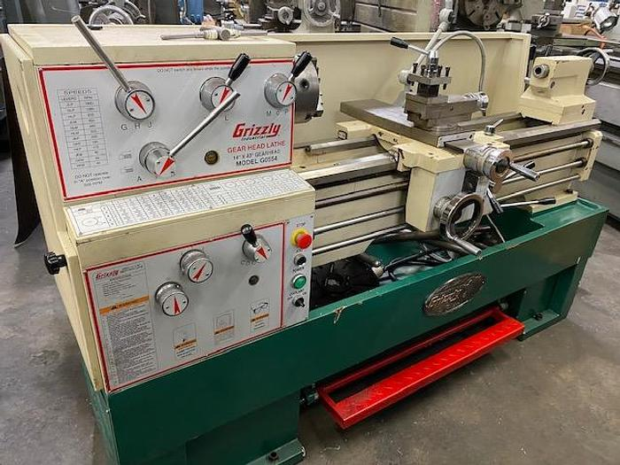 "Used Grizzly 14"" x 40"" Geared Head Gap Bed Lathe Model G0554"