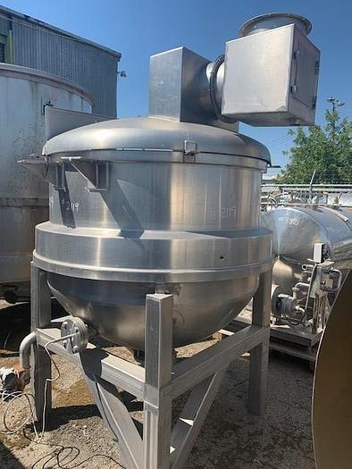 350 Gallon J.C. Pardo Jacketed Mix Kettle