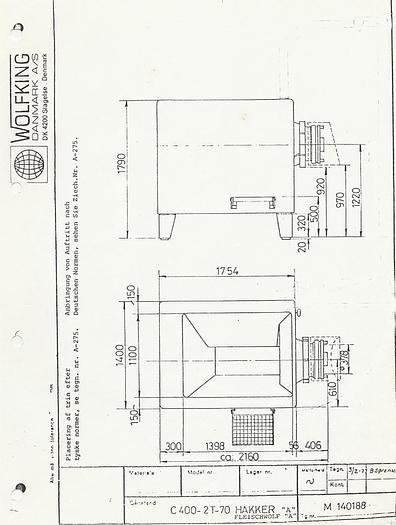 Używane Wilk C.400-2T-70; WOLFKING; całkowicie nierdzewny