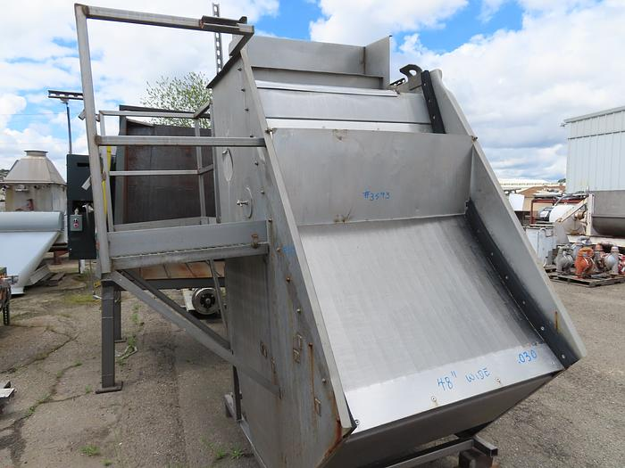 48'' Wide Parabolic WasteWater Screen