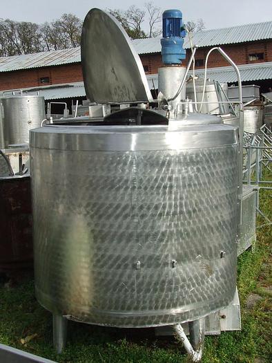 Used Zbiornik procesowy, trzypłaszczowy z mieszadłem bocznym śmigłowym
