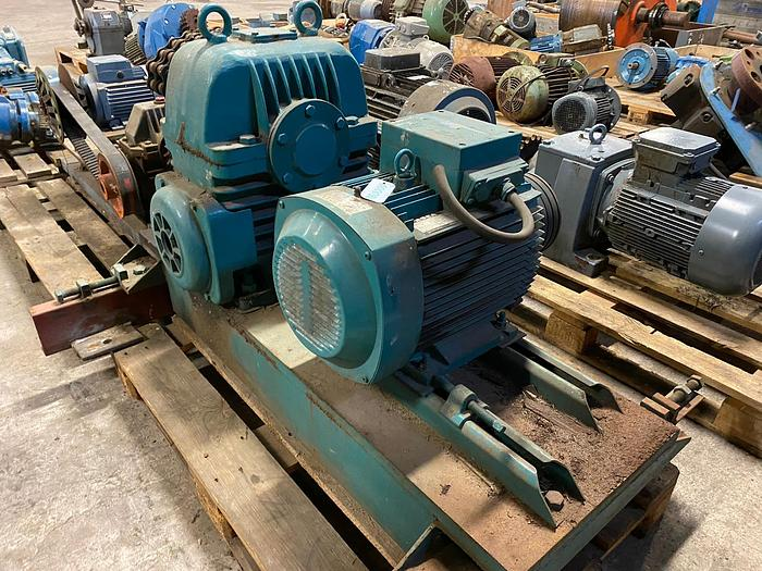 Used ASEA Electric motor with reducer 11 kW