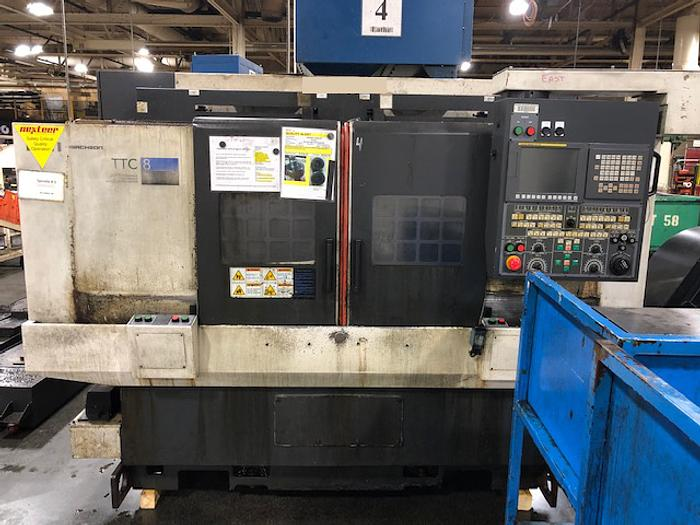 2010 HWACHEON TTC-8 TWIN SPINDLE/TWIM TURRET CNC LATHE