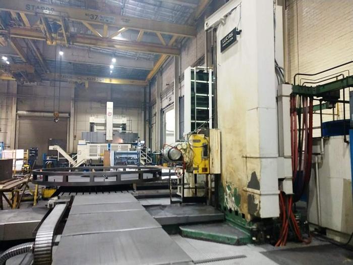 """Used 6 """" Lucas 5 Axis CNC Table Type Horizontal Boring Mill, Model 40T, Table size 72"""" X 168"""", X Travel 168"""", Y Travel 120"""", Fidia CNC"""