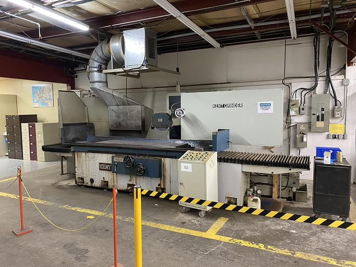 """Used KENT 24"""" X 80"""" COLUMN TYPE SURFACE GRINDER -3 AXIS AUTOMATIC, PROGRAMMABLE ELECTRONIC AUTO INCREMENTAL DOWNFEED"""