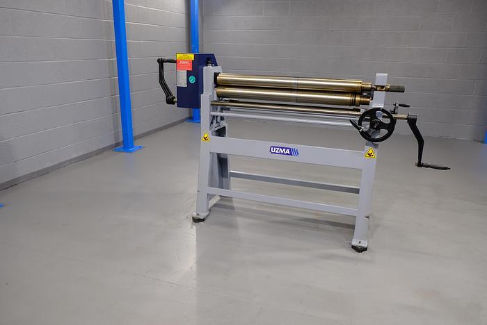 UZMA RS model Hand operated geared Bending rollers 90mm diameter