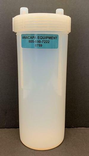 """Used Savillex 100-2000-01 Standard Jar 10"""" 2000 mL & Closure 2 Port 1/8"""" (8759)W"""