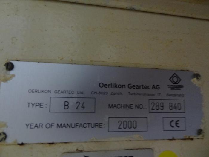 Used 2000 OERLIKON B24 CNC BLADE GRINDER