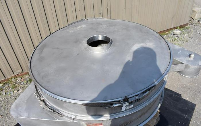 "USED GUMP SCREEN, 48"" DIAMETER, STAINLESS STEEL, SINGLE DECK"