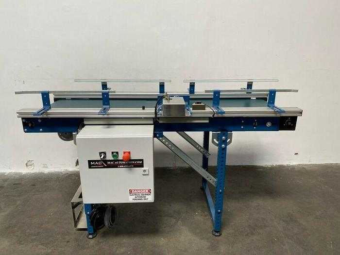 "Used MAC Automation Concepts C4467-RWORK-LF0518 63"" x 18"" Conveyor w/ 1/4HP Motor"
