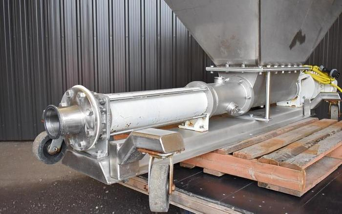 USED SEEPEX PROGRESSING CAVITY PUMP, STAINLESS STEEL, SANITARY