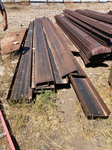 """HB18243 12"""" x 1/4"""" channel iron beams 20' Long"""