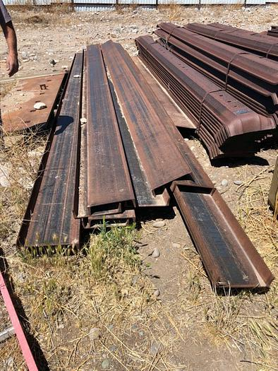 "HB18243 12"" x 1/4"" channel iron beams 20' Long"
