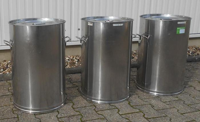 Used X14873D - Drums 75 Litre Stainless Steel EUROCONT AB 75