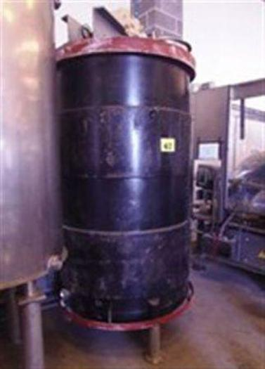Used 2,500 Litre Gate Agitated Jacketed Tank