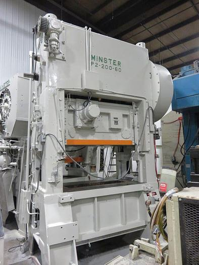 Used 200 TON MINSTER HIGH SPEED PRESS