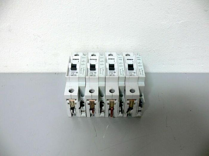 Used Lot of 4 Siemens Circuit Breakers - 5SX21 (X3) 5SX2 (X1) + VDE0660