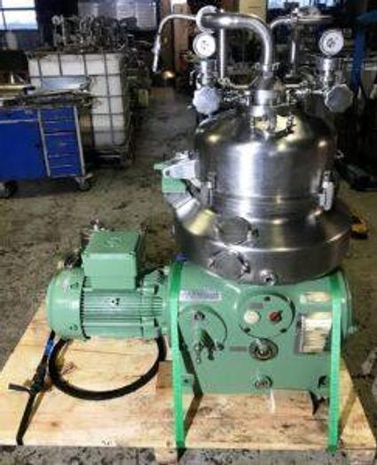 Refurbished Westfalia VA 35-09-566 nozzle separator. Centrifugal counter-current extraction equipment