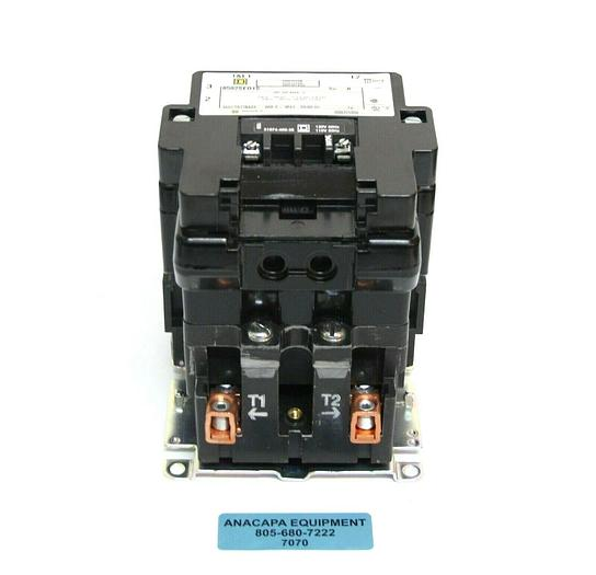 Used Square D 8502 SEO1 S Full Voltage AC Magnetic Contactor Type S + Auxiliary (7070