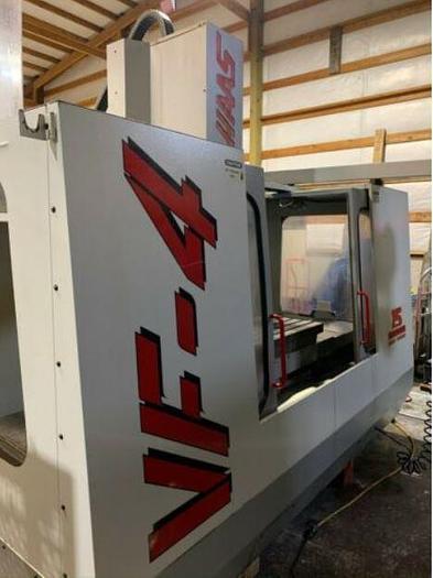 Haas VF-4 CNC Vertical Machining Center 4 axis ready