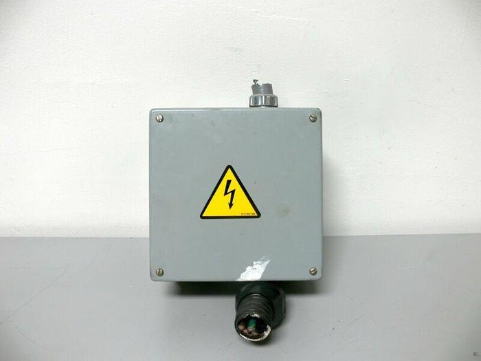 Used Hoffman A-808SC Screw Cover Junction Box w/ Terminal Blocks