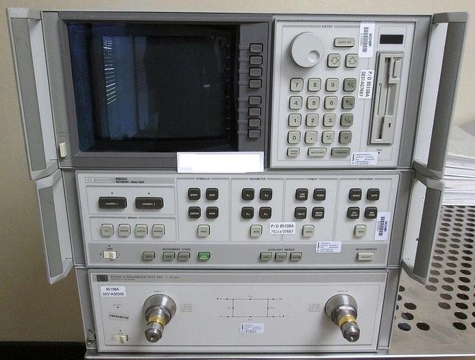 HP Hewlett-Packard 85110A S-Parameter Test Set with 85102B and 85101C