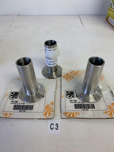 "Waukesha Cherry-Burrell 129-175X 14WLMP 1""316L Lot Of 3 (2 In Factory Packaging)"