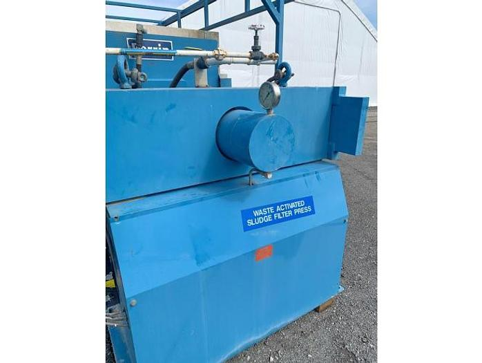 USED PERRIN FILTER PRESS, RECESSED PLATE, 1200 MM X 1200 MM, POLYPROPYLENE, SQUEEZE PLATES
