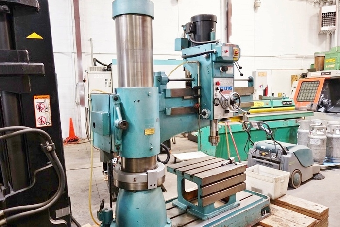 Wilton 4′ x 12″ Radial Arm Drill Heavy Duty No 4 Taper 5 HP Lightly Used